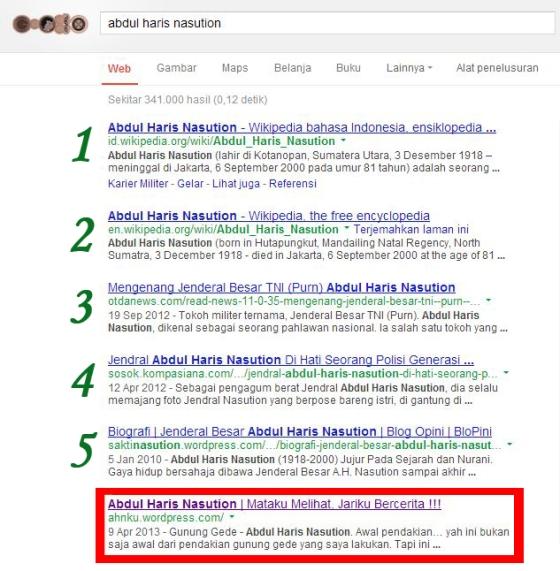 Abdul Haris Nasution Google